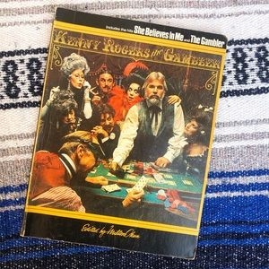 Kenny Rogers 1979 The Gambler Sheet Music Book